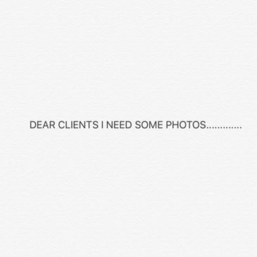 Attention clients: call for photos