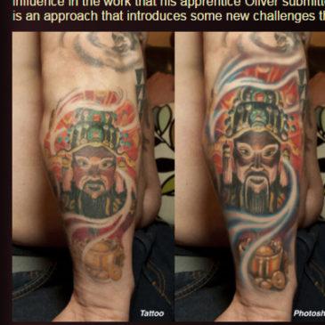 Critique on my Tattoo Work at Tattooeducation.com and Tattoo Magazine