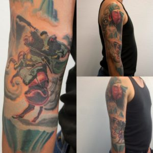 Oliver-wong-tattoo-guan-yu-sleeve-work-in-progress-July-2016